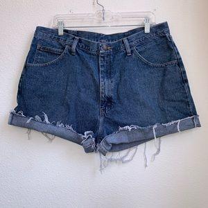 Wrangler   High Waisted Mom Jean Shorts